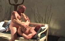 Nice outdoor gay fuck