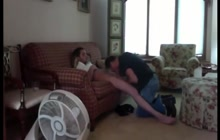 Amateur blowjob session with two gay lovers