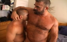 Hot sex on the bed by big bears