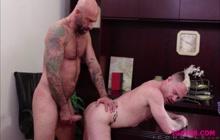 Big cock jocks Drew Sebastian and Trent Atkins anal creampie