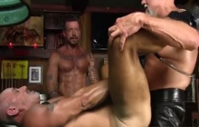 Scott Pierson bareback fucked in threesome
