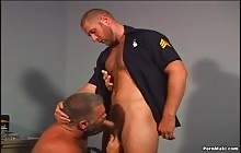 Sexy stud gets fucked by a muscled DILF with Dan Ryder