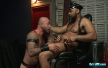 BDSM Dom Fucks Another Bear and Makes Him Gag