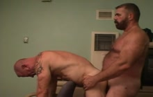 Horny gay and his lover fucking bareback style