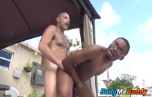 Donny Ray bareback fucked by Sailor Blue