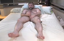Gay bear masturbating