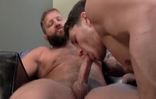 Bear fucks a young stud