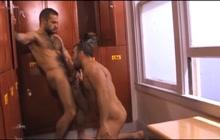 Horny hunks show cock sucking skills
