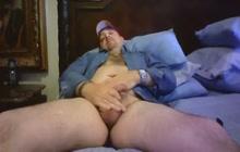 Horny amateur guy strokes cock
