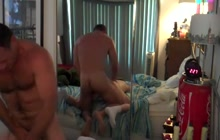 Muscle daddy knows how to fuck his boy