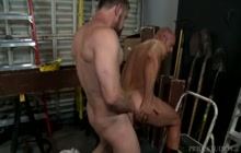 Horny coworkers enjoy sex at the job