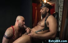 Big muscular men with large dongs in anal