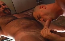 Horny cop and convict fucking hard