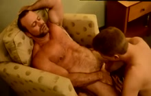 Muscle bear and younger guy