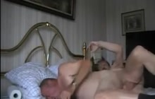 Mature gay couple fucking bareback