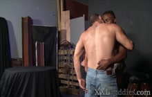 Rimmed bear gets spermed by bbc