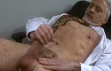 Older Guy Masturbating In Office