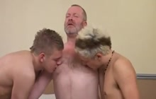 Young gay boys fucking with an old daddy