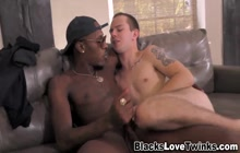 Twink gets ass railed by black dong