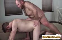 Bears having bareback sex