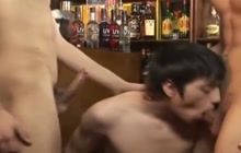 Twink Threesome At The Bar