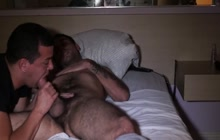 Bear getting his cock sucked
