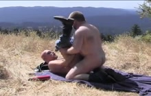 Gay Bear Couple Have Fun In The Nature