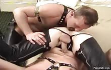 Sexy gay gets his ass fucked by two studs
