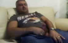 Bear having fun on webcam