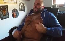 Hairy turkish muscle bear jerking