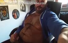 Turkish bear wanking his big cock