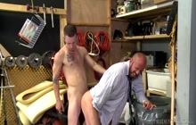 Bald DILF loves it from behind