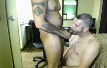 Dude takes bareback cock and he loves it