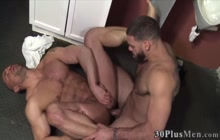 Muscly jock gives head and rides
