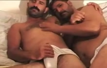 Two Turkish lovers jerking off