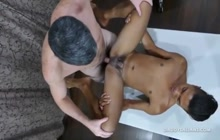 Senior gay dick for young Asian twink