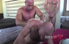 3 horny dudes having bareback style