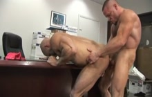 Two horny muscle bears fucking hard