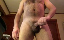Kinky bear masturbating