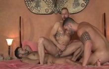 Letterio Amadeo, Viktor Rom and Antonio Miracle in threesome